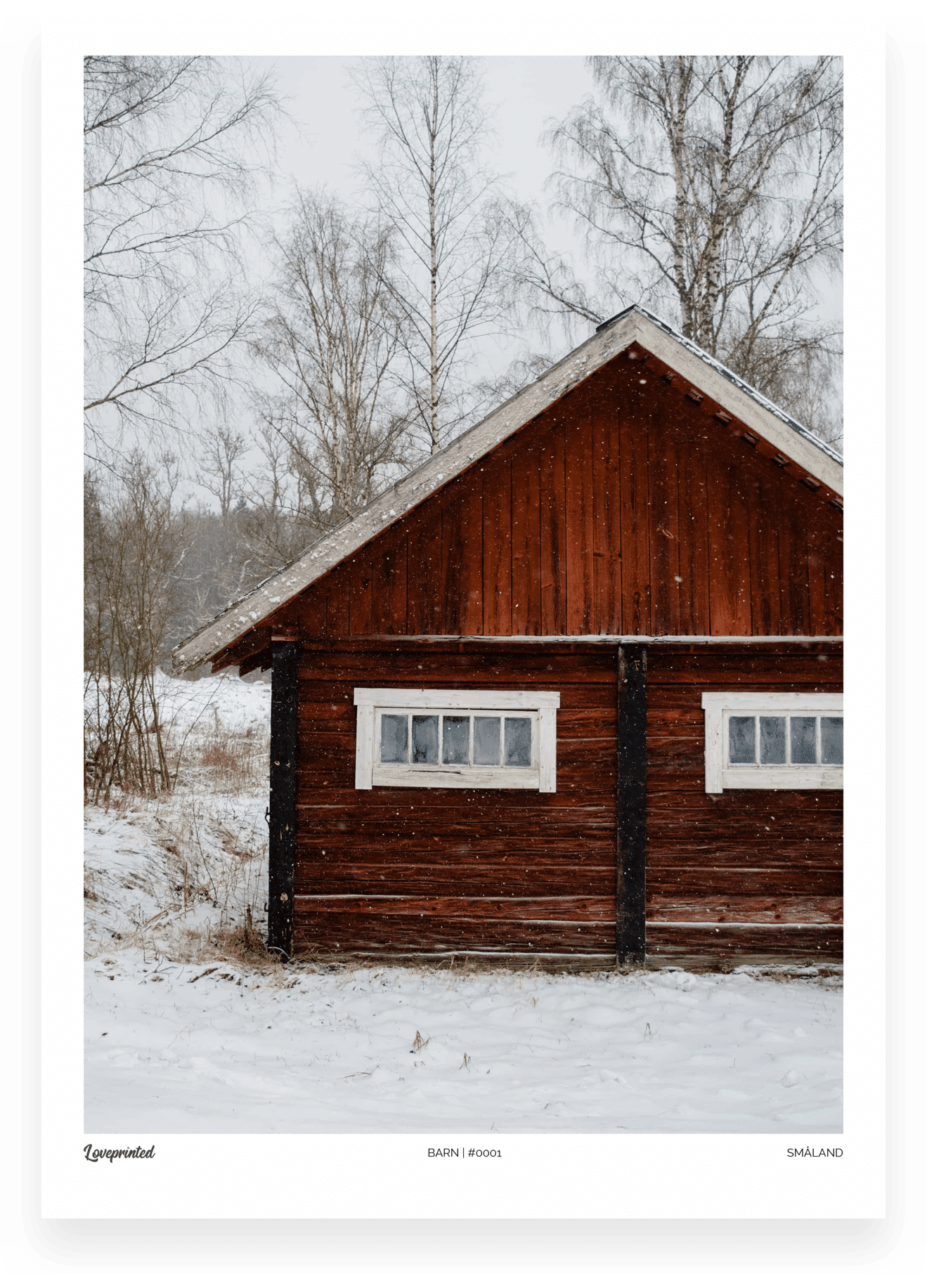 Barn | An Image of a Swedish Barn made by Loveprinted