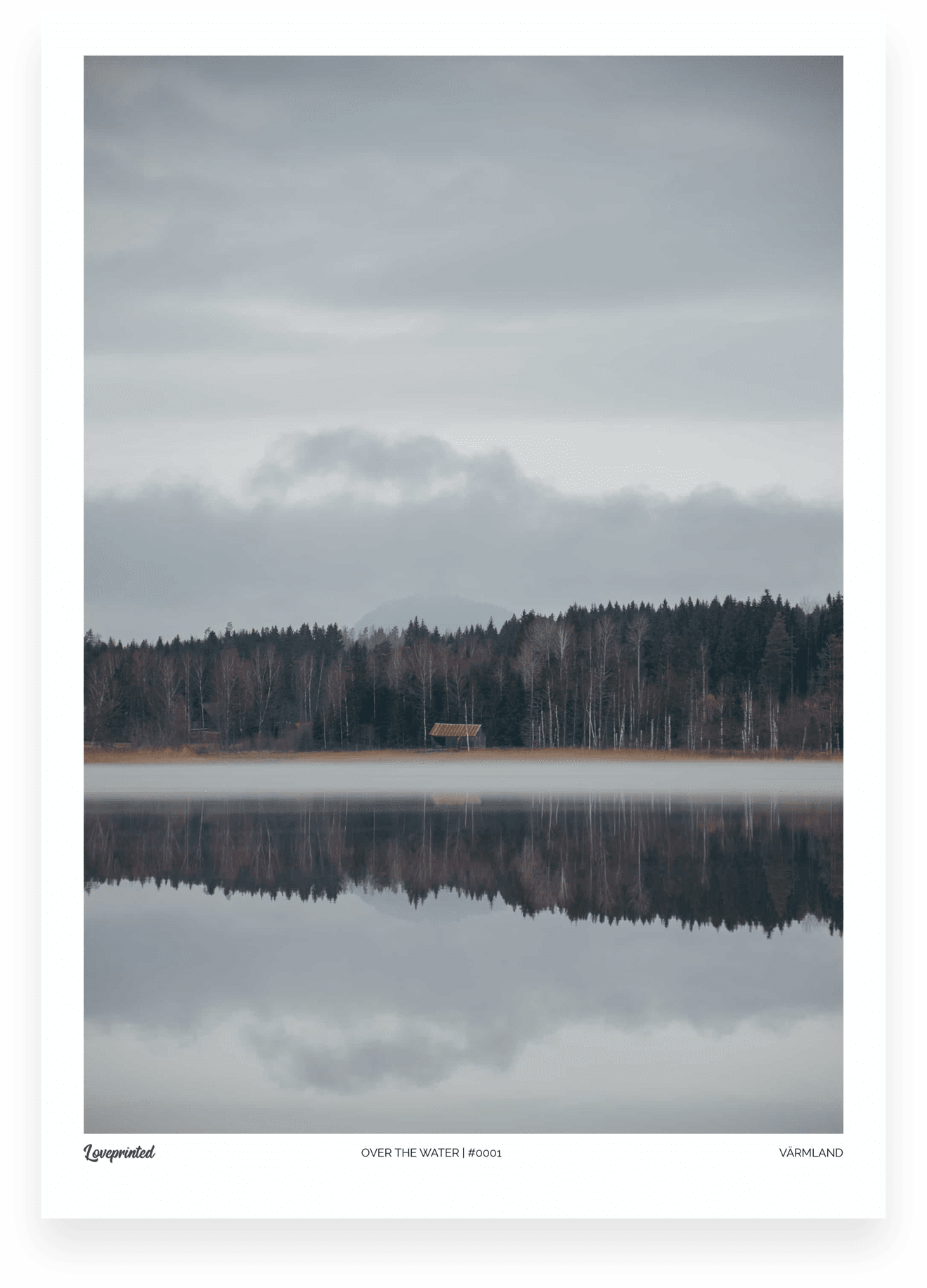 Over the water | An Image of a Swedish lake with mist floating over it made by Loveprinted