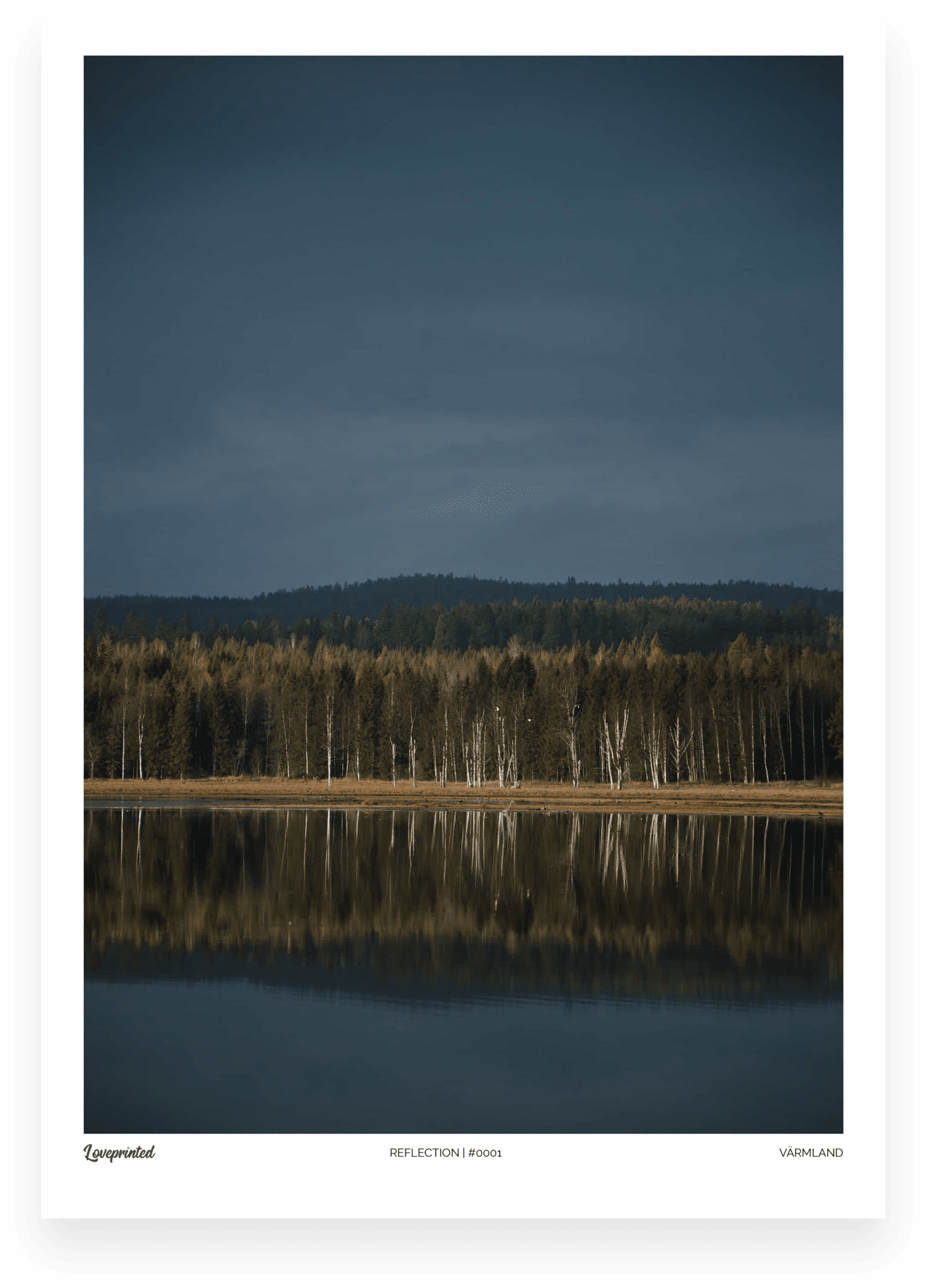 Reflection | An Image of a Swedish lake reflecting the tree line made by Loveprinted
