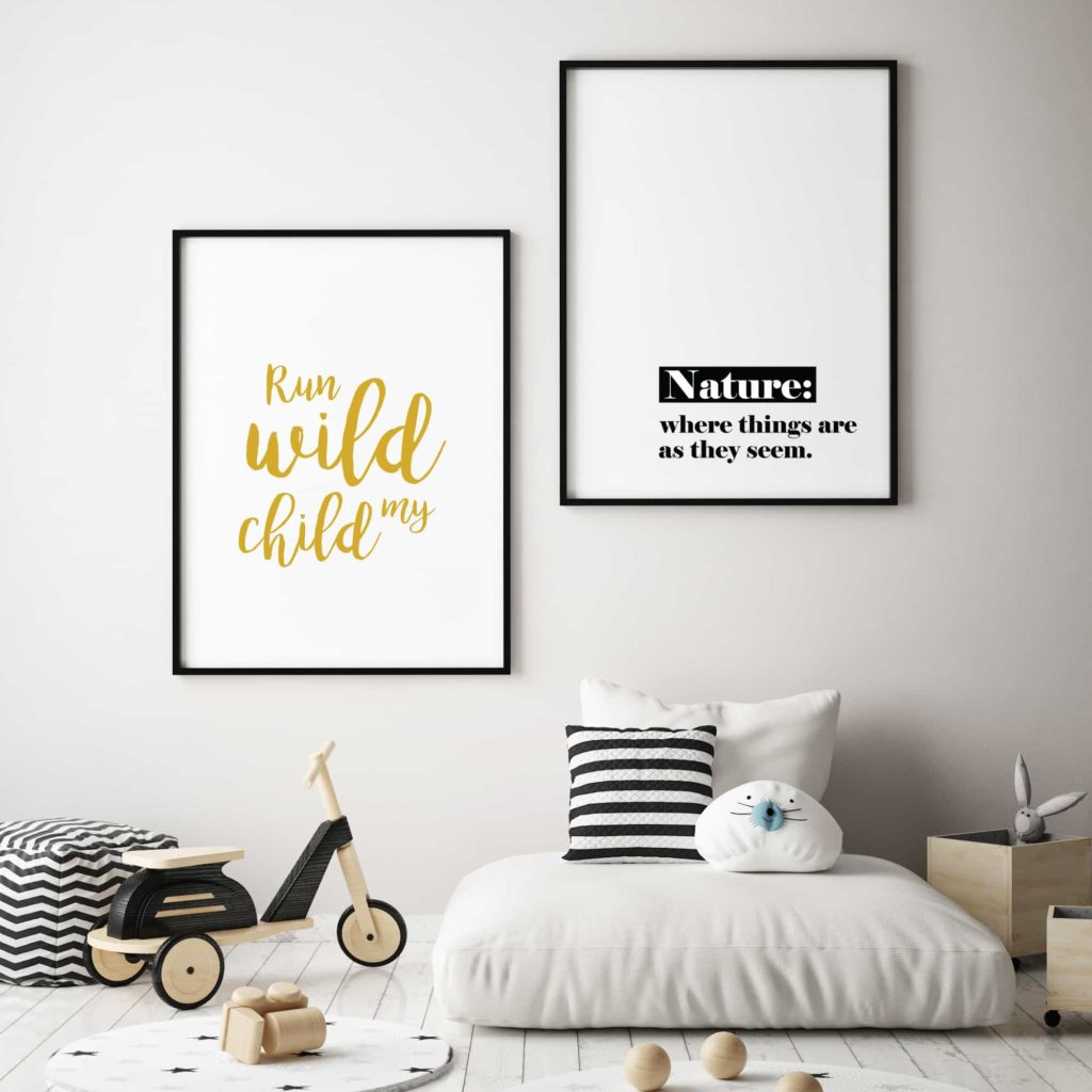 Graphic posters and wall art, wall decor inspiration